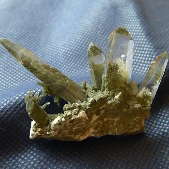 ヒマラヤ水晶原石緑泥石入り035