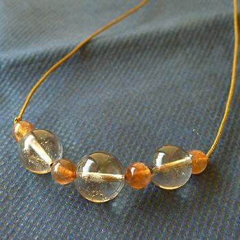 ヒマラヤ水晶ネックレス紐付きチョーカー029