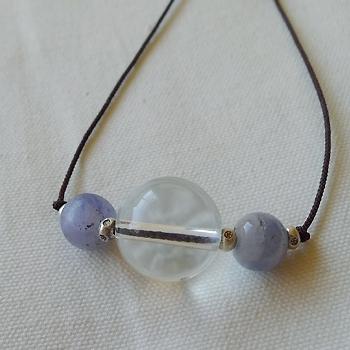 ヒマラヤ水晶ネックレス紐付きチョーカー031