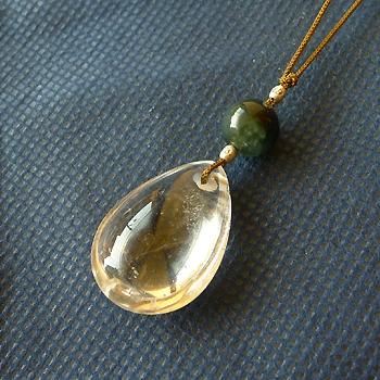 ヒマラヤ水晶紐付きチョーカー透明水晶028