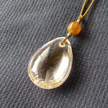 ヒマラヤ水晶紐付きチョーカー透明水晶042