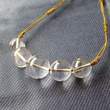 ヒマラヤ水晶紐付きチョーカー透明水晶044