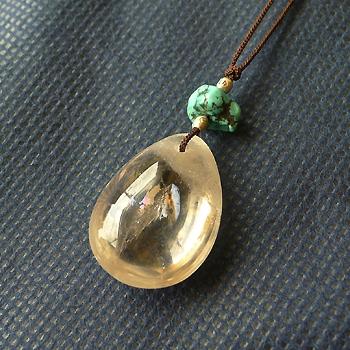 ヒマラヤ水晶紐付きチョーカースモーキー028