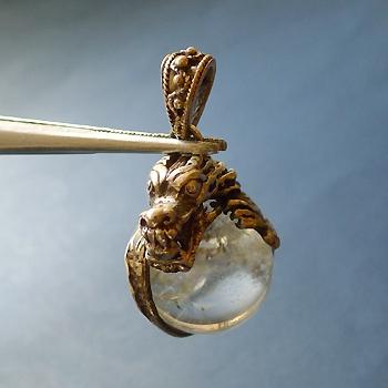 ヒマラヤ水晶ペンダントドラゴントップ014