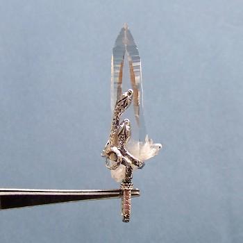 ヒマラヤ水晶ペンダントミラー水晶001