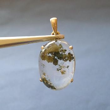 ヒマラヤ水晶ペンダント緑泥石入り030