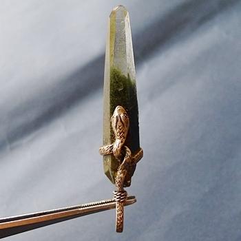 ヒマラヤ水晶ペンダント緑泥石入り045