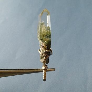 ヒマラヤ水晶ペンダント針金形状内包物入り049