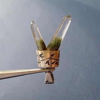 ヒマラヤ水晶ペンダント特殊形状033