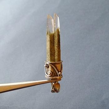 ヒマラヤ水晶ペンダント特殊形状040