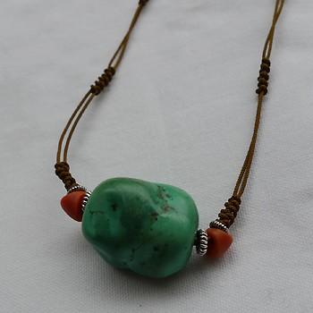 チベットトルコ石チョーカータイプ001