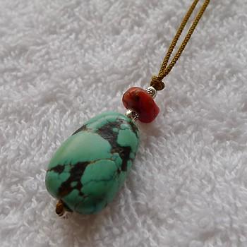 チベットトルコ石チョーカー007