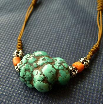 チベットトルコ石チョータータイプ016