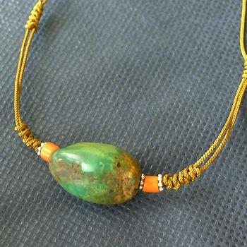 チベットトルコ石チョーカータイプ022